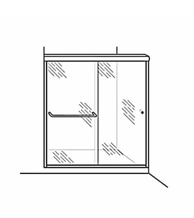 Semi-Frameless Bypass Door Shower Enclosure