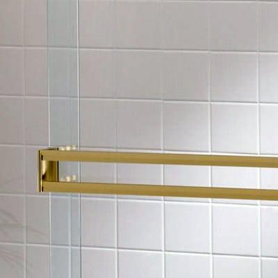 Semi-Frameless Bypass Door Double Towel Bar - DSI Glass