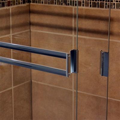 Semi-Frameless Bypass Door Double Towel Bar and Handle - DSI Glass