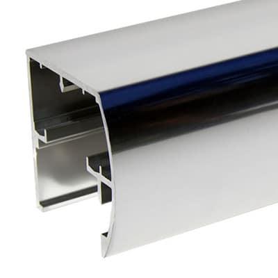 Semi-Frameless Bypass Door Euro Style Headrail - DSI Glass