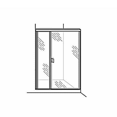 Semi-Frameless Door with Inline Panel - DSI Glass Aurora